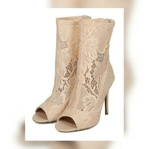 Shoes - Lace Stiletto Booties